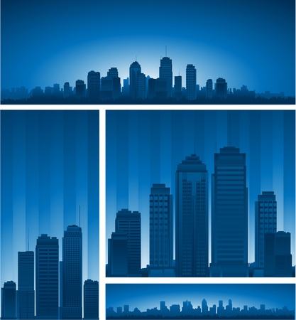 Cartoon city illustration Vector