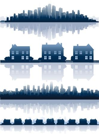 modern huis: Onroerend goed illustratie