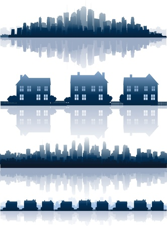 Real estate illustration Stock Vector - 8626859