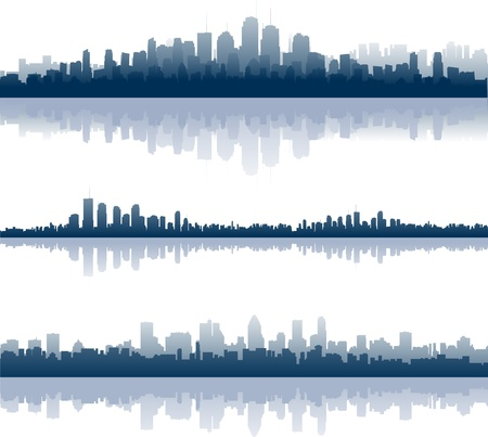new york skyline: Cityscape illustrations