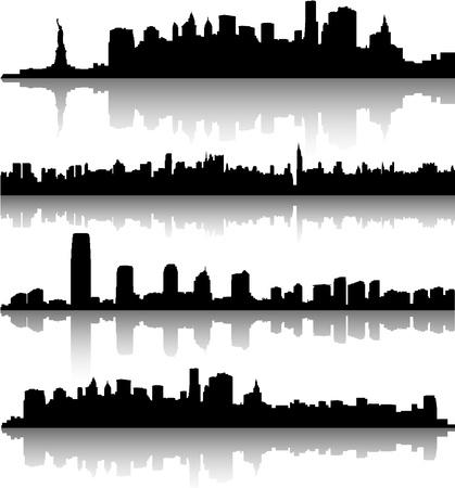 뉴욕의 도시 풍경 일러스트
