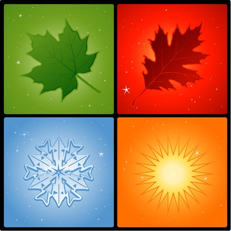 four seasons elements Stock Vector - 8666904