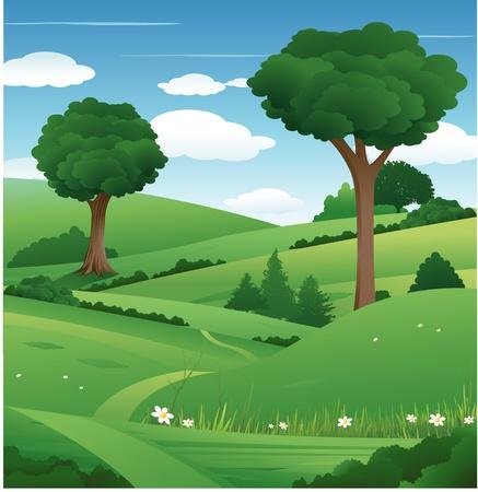 自然風景  イラスト・ベクター素材
