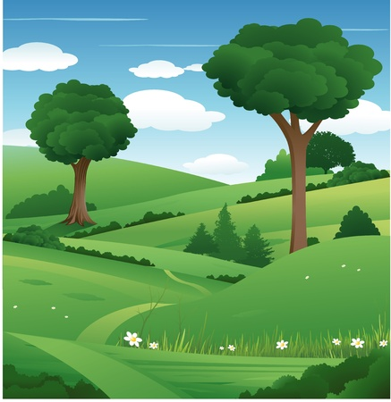 nature landscape Stock Vector - 8666915