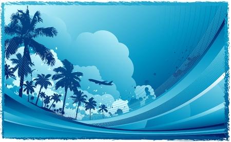 miami south beach: summer travel background