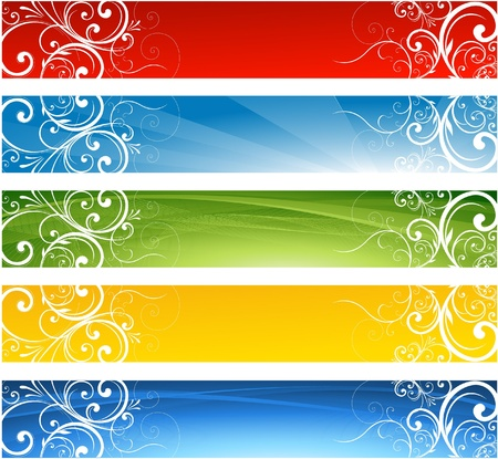 web site design: floral website banners