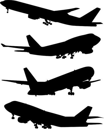 vliegtuig silhouet