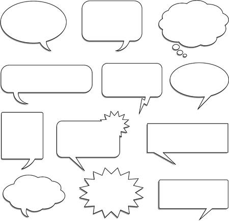 bande dessin�e bulle: bulles de discours Illustration