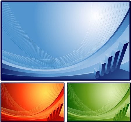 Abstract financial background Illustration