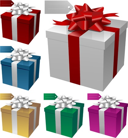 christmas gift: gift boxes illustration Illustration