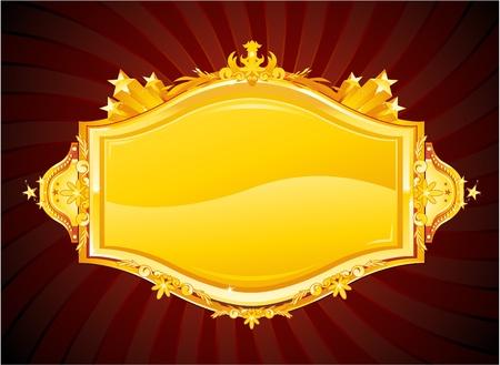 golden casino sign Vector