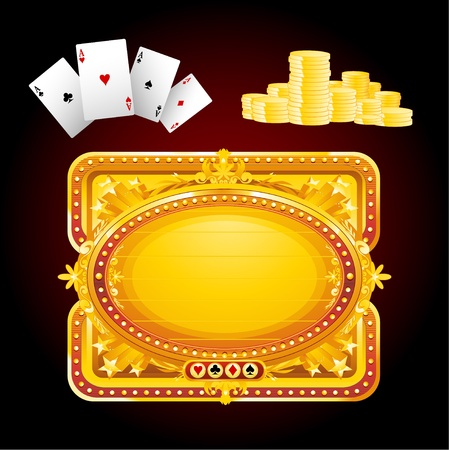 casino sign elements Stock Vector - 8667370