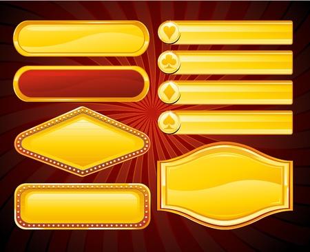 ruleta de casino: colecci�n de signo de Casino Vectores
