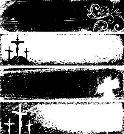 Grunge christelijke banners