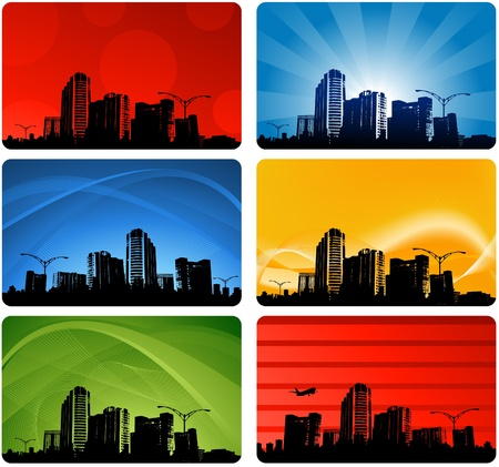 abstract city design Stock Vector - 8674495