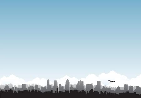 cityscape airport background 일러스트