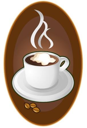 victorian wallpaper: coffee logo