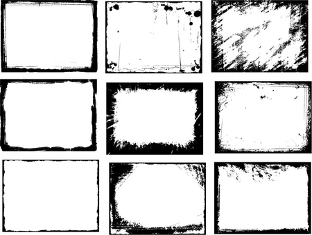 grunge frame textures Stock Vector - 8667374