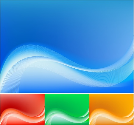 blue abstract waving background Vector