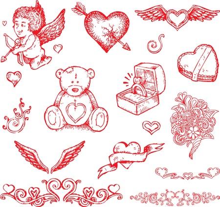 cupido: valentines day design elements