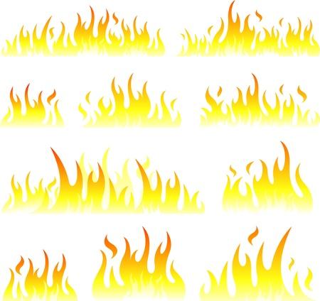 flames design illustration