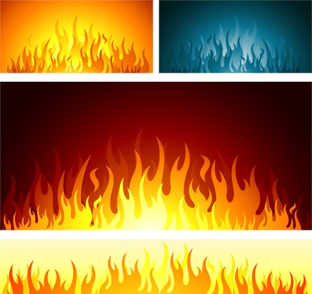 blue flame: flames design background