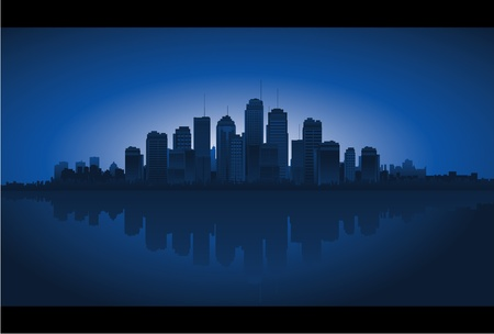 city reflection Vector