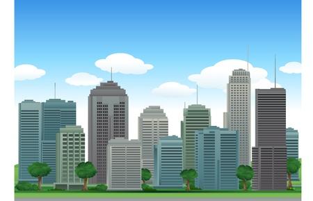 dramatic sky: edificios de la ciudad de naturaleza