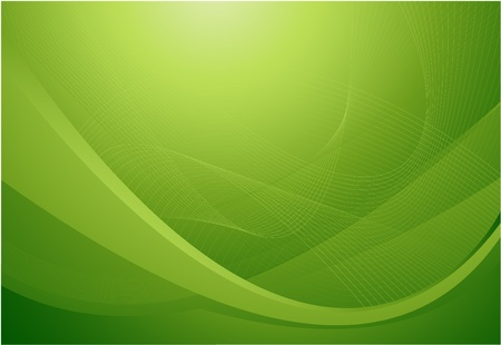 green wave background Stock Vector - 8660004