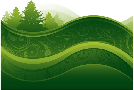 modern: abstract nature background Illustration
