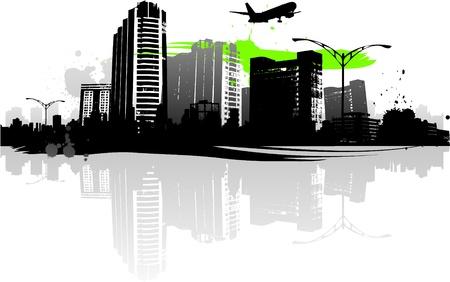 city background: urban design Illustration