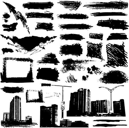urban grunge design elements