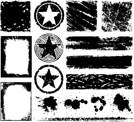grunge design elements Stock Vector - 8660011