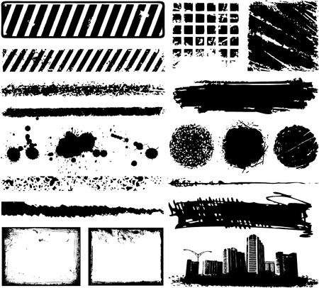 abstract grunge urban elements Vector