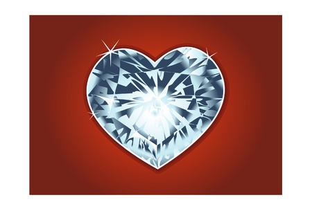 coeur diamant: la Saint Valentin diamond heart Illustration