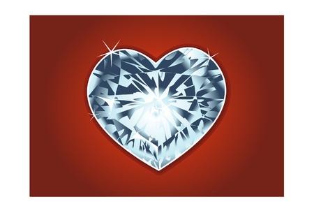 valentines day diamond heart Vector