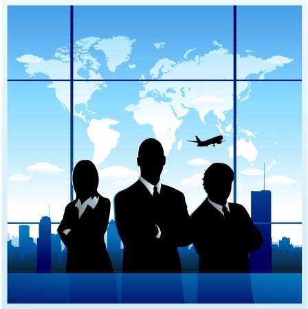 business: Business people background Illustration