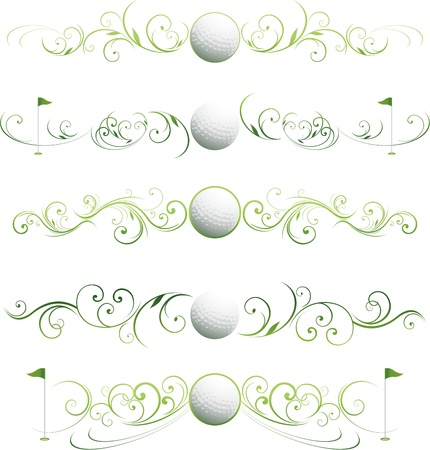 grunge: golf design ornament
