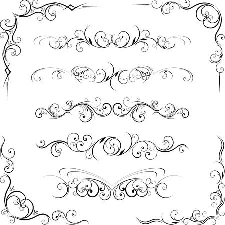 スワール: 華やかなデザイン要素  イラスト・ベクター素材