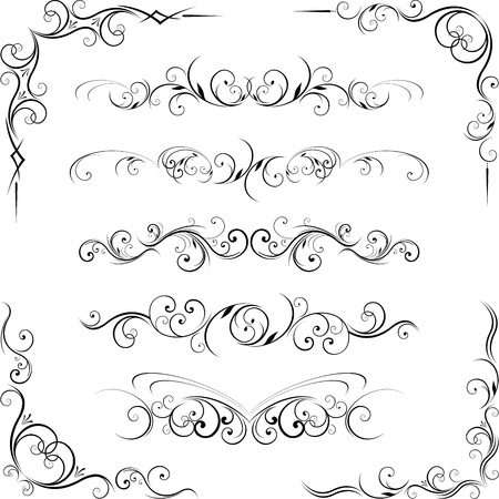 corner border: ornate design elements Illustration
