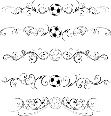 borderframe: soccer ball ornate design elements Illustration