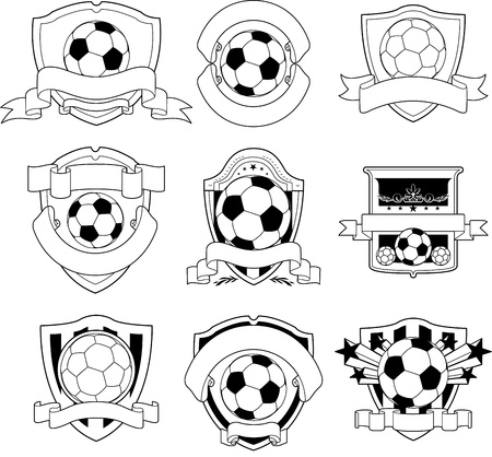black and white soccer emblem