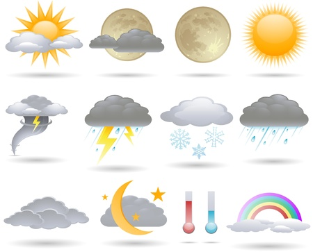 snow storm: weather icons