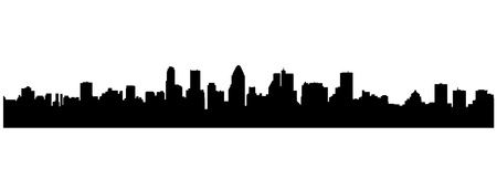 quebec: montreal city silhouette Illustration