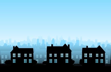 row of houses: Fondo de bienes ra�ces