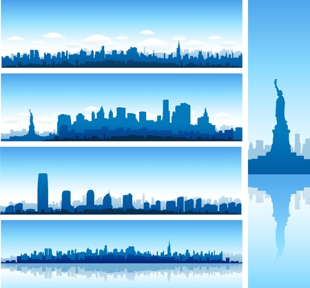 new york city and statue of liberty Stock Vector - 8651404