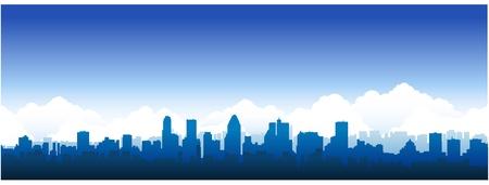 Montreal city silhouette Vettoriali