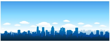 Montreal cityscape Stock Vector - 8651398