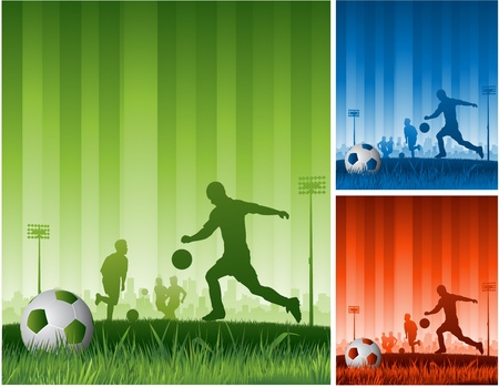 champ: vector soccer background