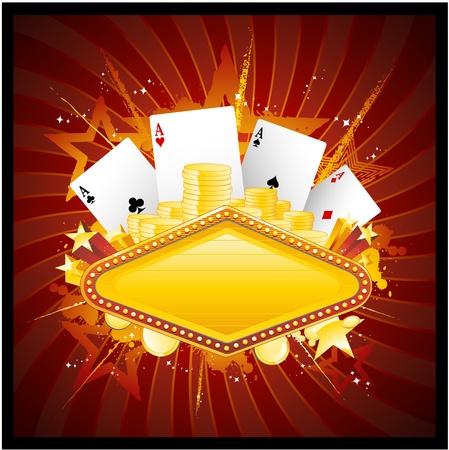 fichas casino: Signo de ne�n de casino Vegas